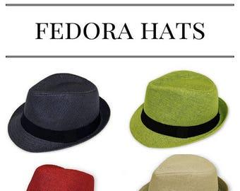 9786839fa2b Unisex Fedora Straw Hats