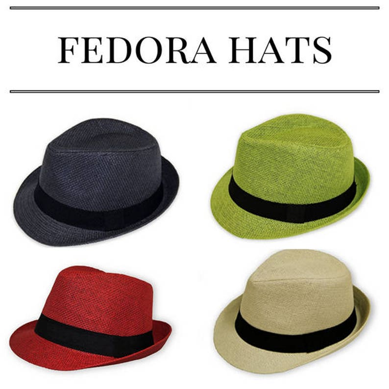 8e7393855e Unisex Fedora Straw Hats
