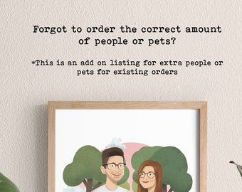 Extra Person/Pet for existing orders