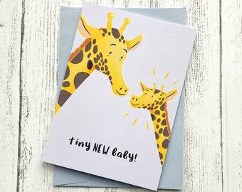 New Baby Card Giraffe Cute   Greeting Card   Congratulations New Arrival Birth A6