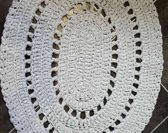 Oval Crochet Rug Mat for your Home