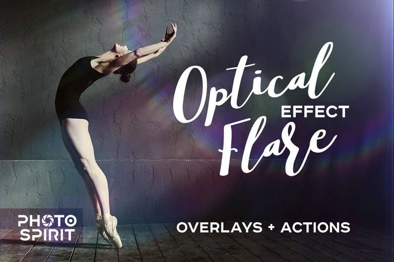 Optical Flare Overlays Effects Photoshop Actions Download Pack of Overlays  in JPG with quick Actions, Photo Collection, Textures Download