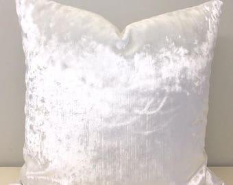 Bright White Velvet Pillow Cover, White Pillows, Velvet Pillow, Decorative  Pillows, Velvet Cushion, White Velvet Sofa Pillow Covers