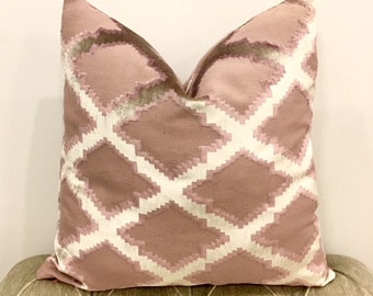 Pink Velvet Pillow Case, Velvet Throw