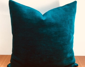 Green throw pillow | Etsy
