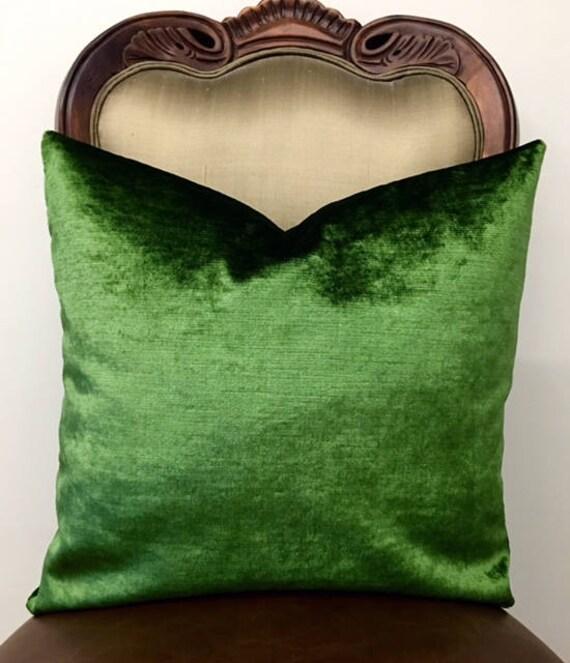 Cuscini Verdi.Cuscino Di Velluto Verde Brillante Cuscini Verdi Cuscino Di Etsy