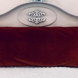 Lumbar Pillow Cushion Case Luxury Terracotta Velvet Pillow Cover 14X36 Velvet Pillows Decorative Pillow Long Pillow Designer Pillow