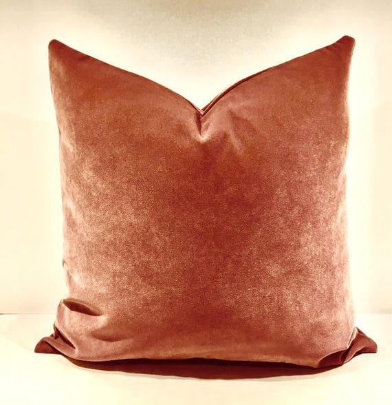 Terracotta Velvet Throw Pillows Velvet Pillow Cover Etsy Best Terracotta Decorative Pillows