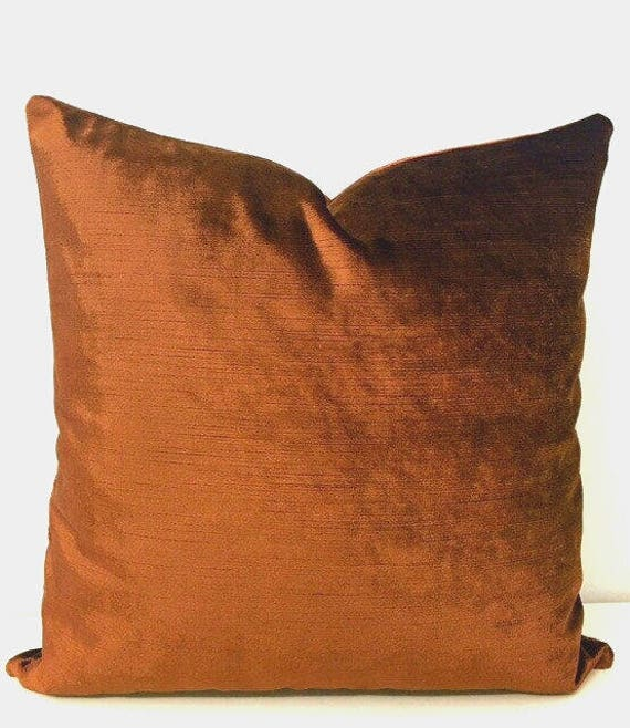 Luxury Bronze Velvet Throw Pillows Velvet Pillow Cover Etsy Best Bronze Decorative Pillows