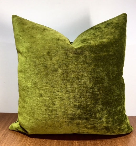 Cuscini Verdi.Verde Oliva Throw Pillow Cuscino Cuscini Verdi Ciniglia Etsy