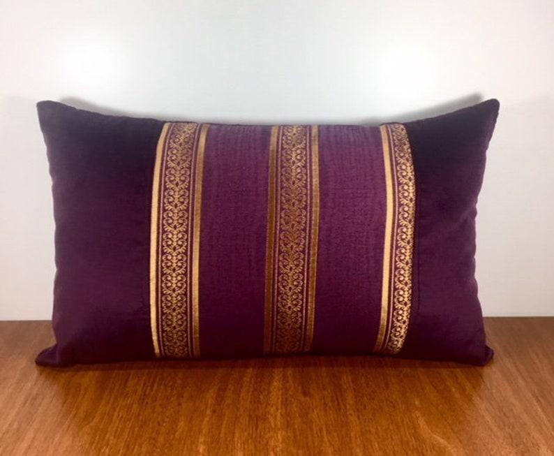 Dark Purple Velvet Throw Pillow Pillow