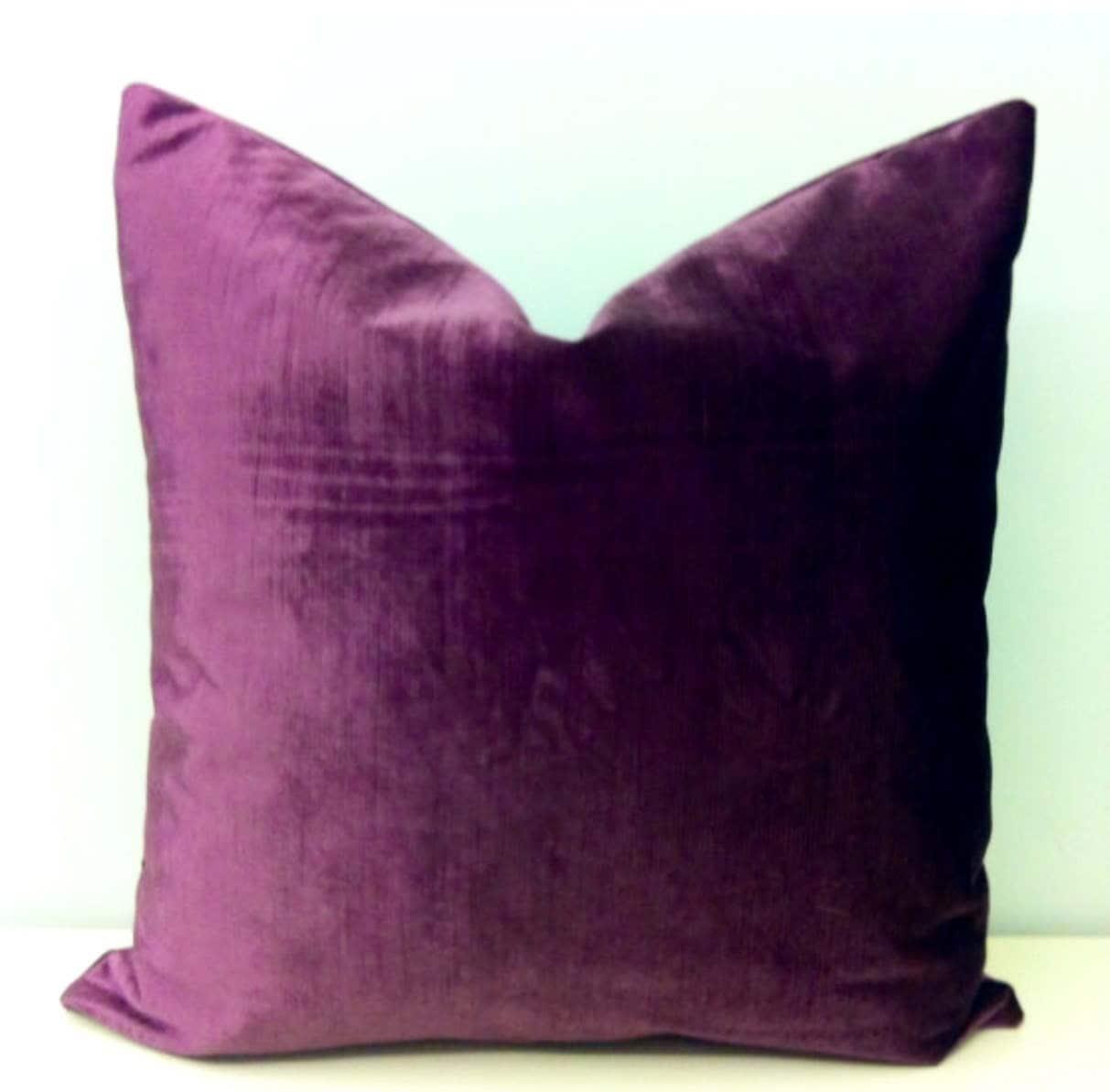 Plum Velvet Throw Pillows Velvet Pillow Cover Decorative