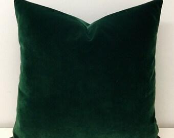 Luxury Dark Green Velvet Throw Pillows, Velvet Pillow Cover, Green Pillow, Decorative Pillows, Velvet Cushion, Dark Green Velvet Pillows