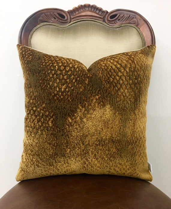 Bronze Velvet Pillow Cover Velvet Pillows Decorative Etsy Impressive Bronze Decorative Pillows