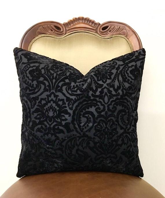Luxury Black Velvet Throw Pillows, Black Pillows, Velvet Pillow Cover,  Decorative Pillows, Velvet Cushions, Black Sofa Velvet Pillow Covers
