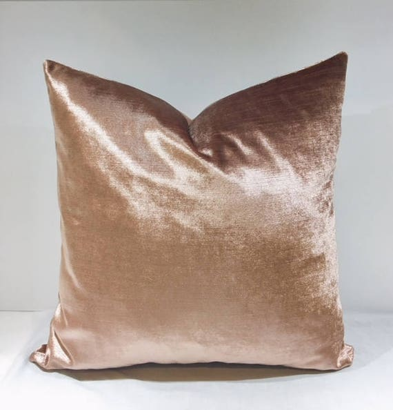 Luxury Dusty Pink Velvet Throw Pillows