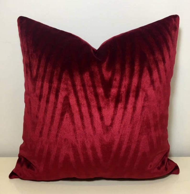 Red Velvet Throw Pillows Red Pillows Velvet Pillow Covers image 0