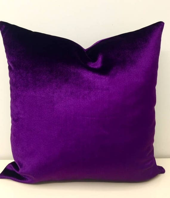 Purple velvet pillow | Etsy