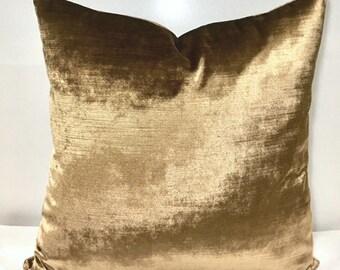 Luxury Bronze Velvet Pillow Cover, Velvet Pillows, Bronze Pillow, Decorative Pillow, Velvet Cushion Cover, Bronze Velvet Pillow Covers