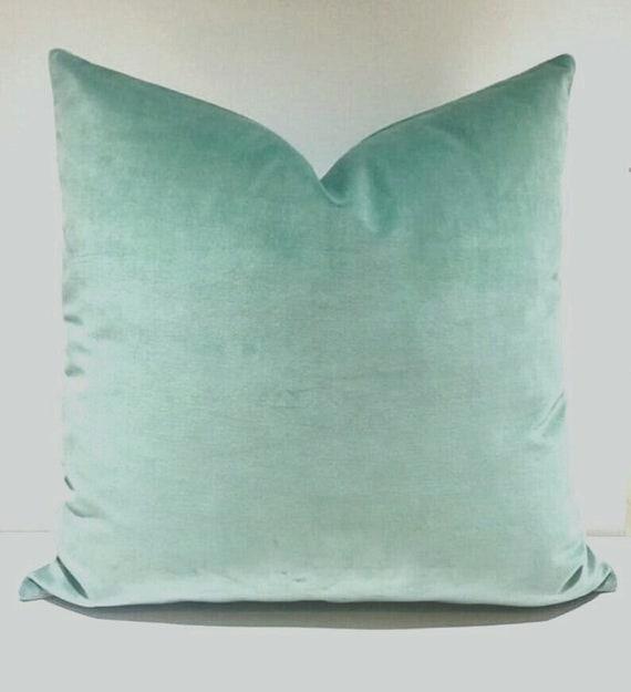 Luxury Mint Green Velvet Pillow Cover, Velvet Pillow, Green Pillows, Throw  Pillows, Decorative Pillow, Velvet Cushion, Mint Velvet Pillows