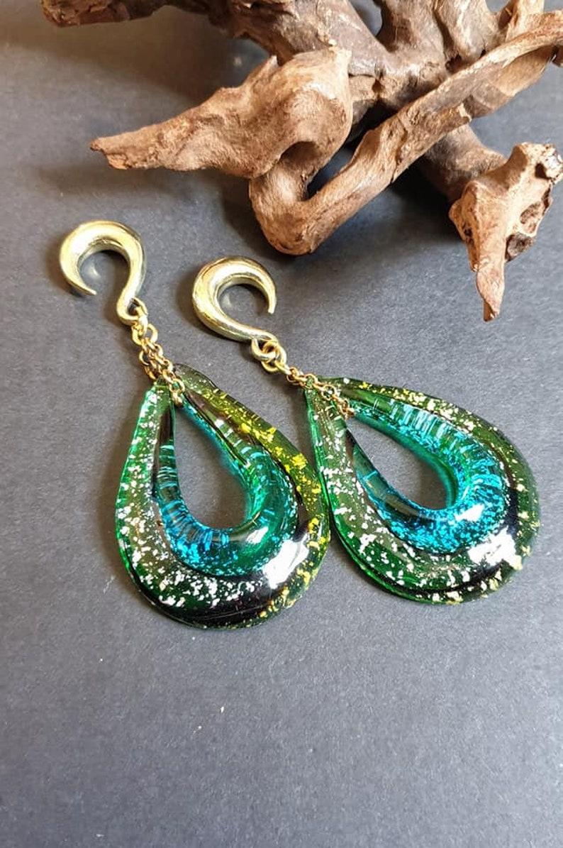 lampwork glass earring,ear weight Glass ear hangers