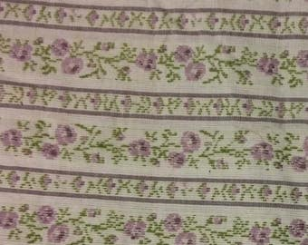 Purple Flower Fabric - Upholstery Fabric - By the Yard