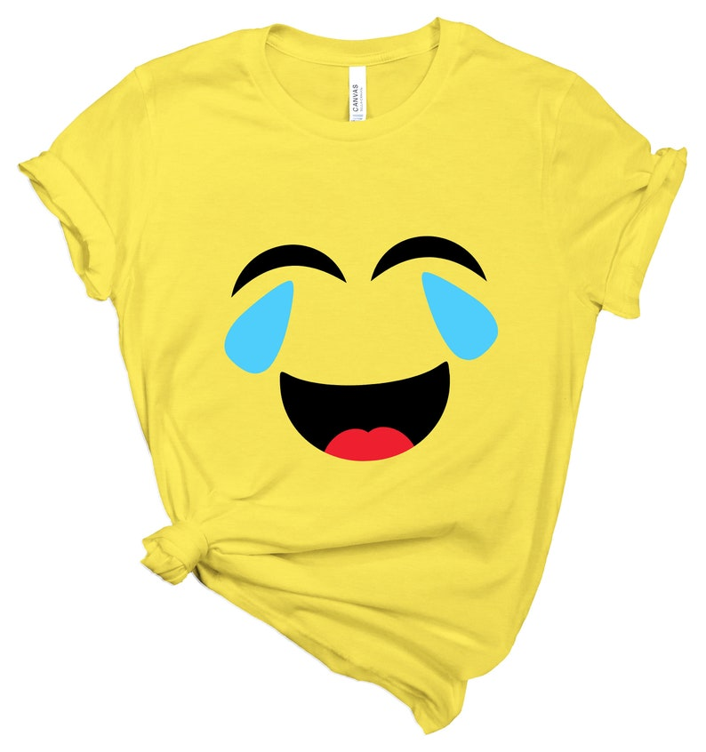 Crying Laughing Emoji Shirt Crying-Laughing Emoji Birthday image 0