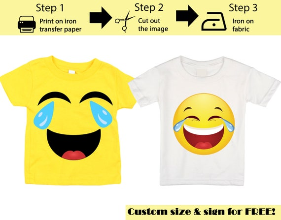 graphic about Printable Emoji Pictures named Printable Emoji Iron upon go, Crying Laughing Emoji, Emoji Blouse, Emoji T-blouse, Emoji Birthday Blouse, Emoji Occasion T-blouse