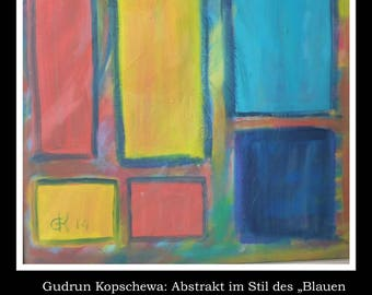 Gudrun Kopschewa, Painting Oil on Canvas, 40x50cm UNIQUE