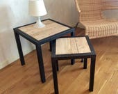 Trundle sofa end table