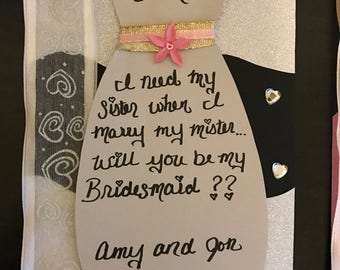 Wedding Boots Flask Will You Be My Bridesmaid Invitation