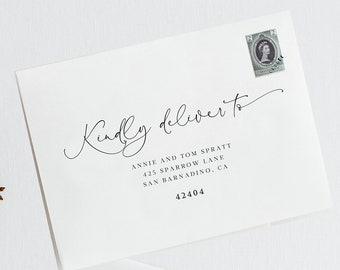 Elegant Wedding Envelope Template Address Envelope Template Printable Envelope Template Modern Script Calligraphy 108