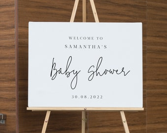 Modern Baby Shower Welcome Sign Welcome Baby Shower Sign Printable welcome Sign Instant Download minimal sign Welcome Editable 111