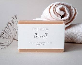 Minimal Soap Label | Editable Business soap label Template | small business packaging | Modern small business soap, Handmade business 111