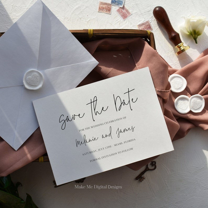 Elegant Save the Date Template invitation Save The Date image 0