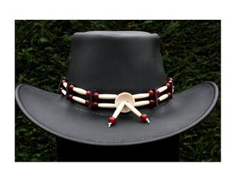 7d58aa42155 Native american hat band   tribal bone hair pipe hat band   cowboy hatband    American indian hat band   bone hat band   Navajo hat band