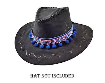 83baa3887c5813 Pom pom Hat band, Mexican cowboy hat band