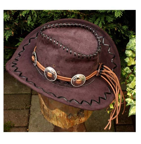 066538ed370 Western hat band cowboy hatband concho hat band brown
