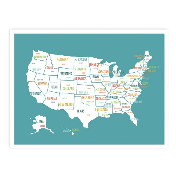 Us Travel Map Download United States Map Digital Download Map Travel Map Usa map | Etsy