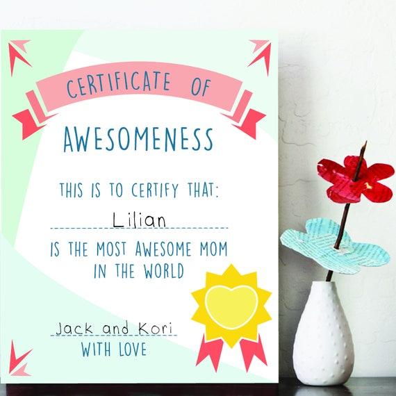 Druckbare Mama Zertifikat Beste Mama druckbare Druck