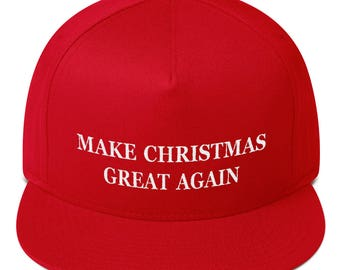 52ed435299fae Make christmas great again hat Flat Bill Cap