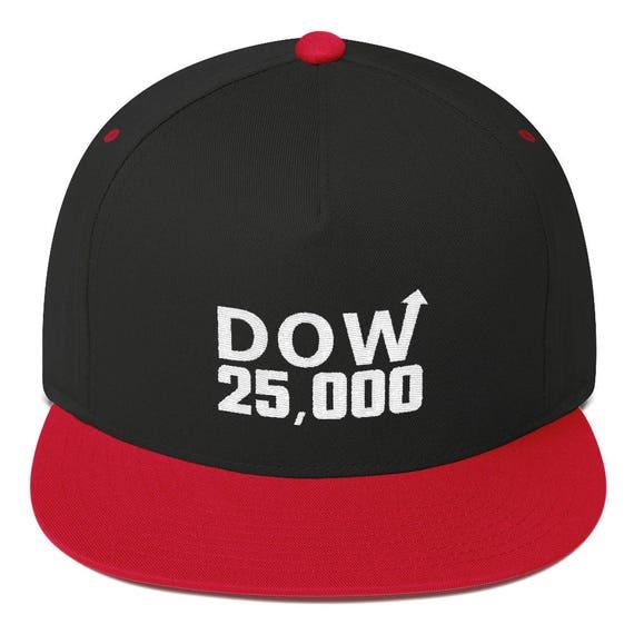 98b706e603f Items similar to Dow 25000 Hat Flat Bill Cap on Etsy