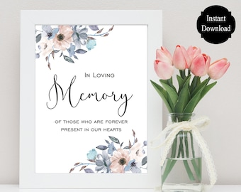 In Loving Memory Wedding Table Sign / Wedding Printable / Memorial Sign / Memorial Table Sign / Loved Ones Memory Sign / Norah Collection