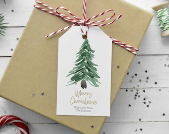 Christmas Trees Gift Tag Template, Rustic Holiday Favor Tag, Christmas Tags, Winter Gift Tag, Personalize Gift Tag Template, MSD-241CGT