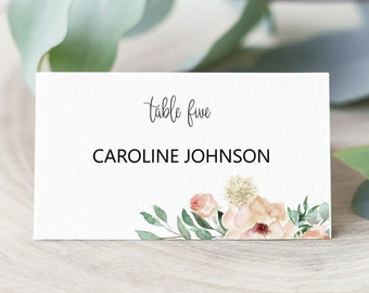 Wedding Place Card Template, Printable Place Card Template, Editable Place Card, Place Card Template, Seating Card, MSD-697