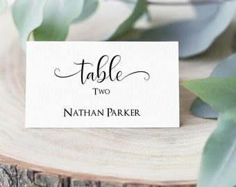 Wedding Place Card Template, Printable Place Card Template, Editable Place Card, Place Card Template, Seating Card, MSD-124