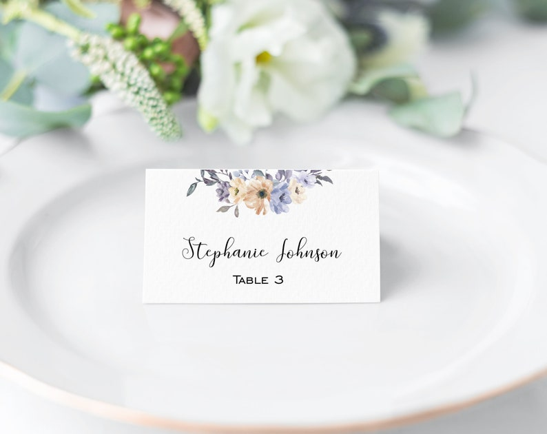 Printable Place Card Wedding Place Card Template Escort Card Editable Place Card  Seating Card  Place Card Template  Nora Collection