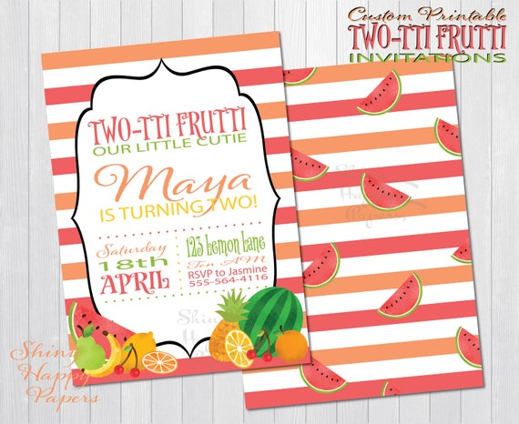 photo about Free Printable Paint Party Invitations identify Printable 2-tti Frutti Get together Invitation - Absolutely free Stickers Electronic Printable Paint Celebration Invitation Tailored for by yourself Tutti Frutti