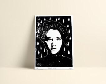 Original Print »These Rainy Days« A5