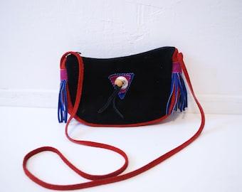 80s Fringe Suede Crossbody Bag